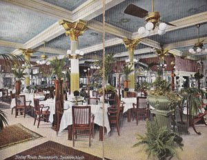 Washington Spokane Davenport's Restaurant Dining Room Double Card