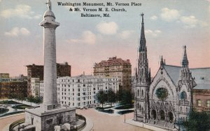 BALTIMORE, Maryland, 1900-1910's; Washington Monument, Mt. Vernon Palace