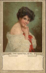 Sanitol Soap - THE SANITOL WOMAN c1905 Postcard