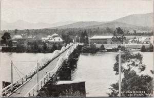 Huon Bridge & Picnic Hotel Australia AU Postcard F3