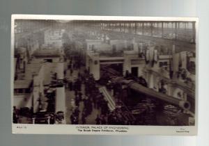 Mint WW1 England Real Picture Postcard Artillery Gun Empire Exhbition Hall