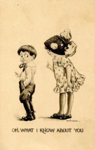 Oh, what I know about you - Artist: Bernhardt Wall.    (Children, Romance)