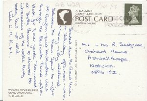 Northamptonshire Postcard - Top Lock - Stoke Bruerne - Grand Union Canal  AB429