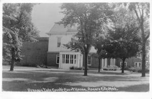 Rogers City Michigan~Presque Isle County Court House~1977 Real Photo~RPPC