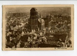 289136 POLAND DANZIG GDANSK Marie church 1929 y RPPC to USSR w/ Danzig stamps