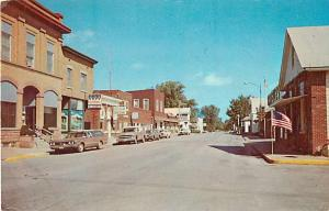 Second St. Scene in Eldridge Iowa IA Chrome Postcard