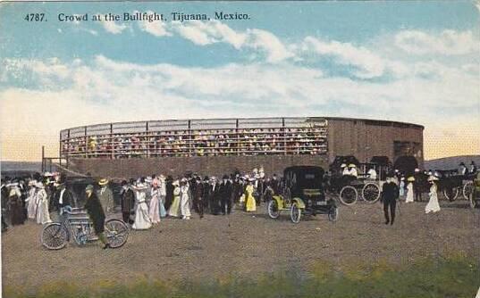 Mexico Tijuana Crowd At The Bullfight