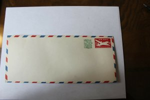 1958 Designs of 1946 U.S. Postage Stationary #10 Envelope with Barber Stripe