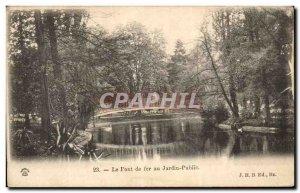 Postcard Old Bridge Iron In Public Garden Tours