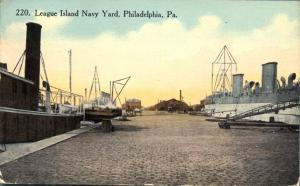 League Island Navy Yard at Philadelphia PA, Pennsylvania - pm 1914 - DB