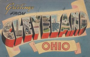 Large Letter Greetings, CLEVELEAND, Ohio, 1946