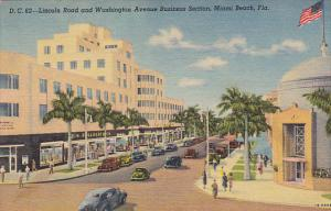 Florida Miami Beach Lincoln Road and Washington Avenue Business Section Woolw...