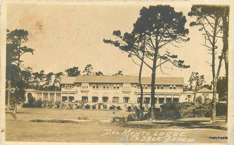 1920s Monterey County California Del Monte Lodge Pebble Beach Rppc 10859