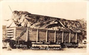 D46/ Garden City Kansas Ks RPPC Postcard c1910 Conard Exaggeration Grasshopper
