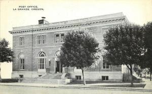 Vintage Postcard Post Office La Grande OR Union County
