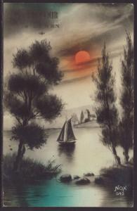 Sailboat,Scene Postcard
