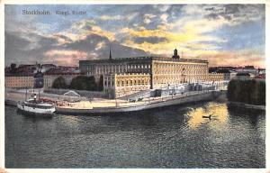 Sweden Old Vintage Antique Post Card Kungl Slottet Stockholm Unused