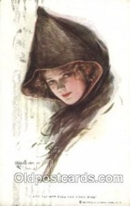 Series No. 200 & yet her Eyes Can Look Wise Artist Signed Harrison Fisher wri...