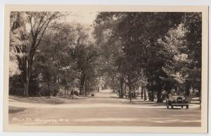 1930s WALPOLE New Hampshire NH Real Photo RPPC Postcard Main St Car Chesire Co