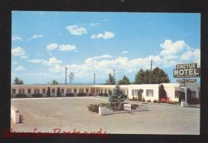 MORIARTY NEW MEXICO ROUTE 66 CACTUS MOTEL VINTAGE ADVERTISING POSTCARD OLD