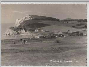 Isle Of Wight; Freshwater Bay 411 RP PPC By Merwood, 1961 To R Edwards, Newbury
