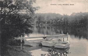 Crystal Lake, Wianno, Massachusetts, Early Postcard, Used in 1916