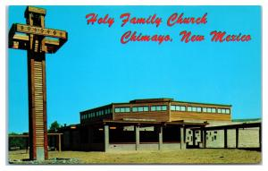 1960s/70s Holy Family Church, Chimayo, NM Postcard