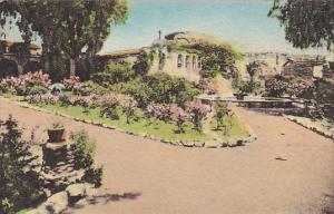 Front Garden Looking East Old Mission San Juan Capistrano California Handcolo...