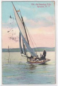 Syracuse NY - Onondaga Lake - Sailboat