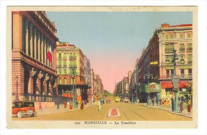 MARSEILLE - La Canebiere , France 1910-30s