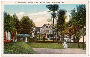 Country Club, Roland Park, Baltimore MD