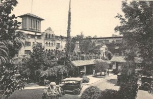 Court, Glenwood Mission Inn, Riverside, CA c1920s Albertype Vintage Postcard