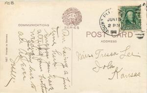 1908 Mt Pleasant Iowa PCK Series Main Street Postcard Koeber 11261