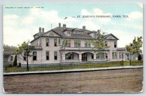 Paris Texas~St Joseph Infirmary~Catholic School Then Hospital~1908 Postcard