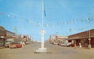 Dawson Creek British Columbia Canada Street Scene Vintage Postcard K83170