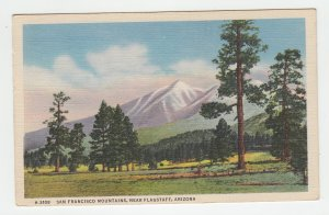 P2187 1949 postcard san francisco mountains near flagstaff arizona
