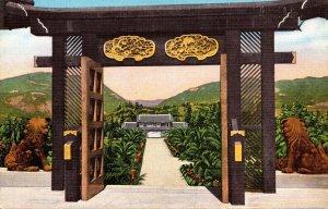 California Pacific Palisades Bernheimer Oriental Gardens Hilltop House Stairc...
