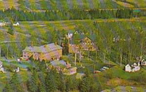 An Aerial View Of Maine Maritime Academy's Upper Campus Showing Dismukes Hall...