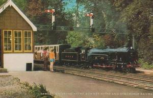 Samson Train Entering Hythe Station Vintage Railway Postcard