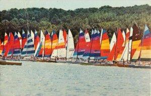 Postcard Catamarans On Pleasant Bay, Cape Cod, MA Posted 1983