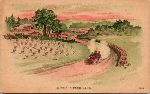 A Trip in Farmland Berne Indiana 1908 - Postcard - PC - Vintage - UNPOSTED
