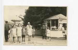 Czechoslovakia Amusement Park Food Stand RPPC Real Photo Postcard