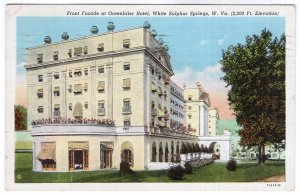 White Sulphur Springs, W. Va., Front Facade at Greenbrier Hotel