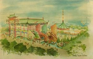 china HONG KONG Pavilion New York World's Fair 1964-65 Architect Eldredge Snyder