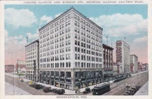 Indiana Indianapolis Corner Of Illinois & Market Streets Showing Illinois & T...