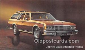 Chevrolet Postcard Post Card Caprice Classic Station Wagon, 1978