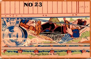 Humour Hobo On Train A Lower Berth In No 23 1910