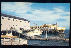 Provincetown, Mass/MA Postcard, Boston Belle Ship At Dock