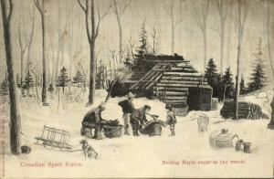 Canadian Sport Series, Boiling Maple Sugar in the Woods (1907)