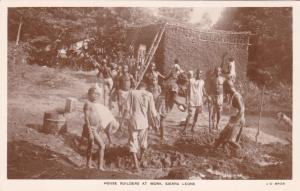 RP: House Builders at work , Sierra Leone , 1920-30s